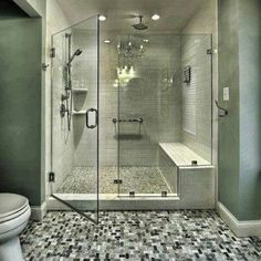 Traditional Bathroom Design, Pictures, Remodel, Decor and Ideas - page 6 Bad Inspiration, Bathroom Inspiration, Bathroom Ideas, Bathroom Designs, Bathroom Interior, Shower Bathroom, Bathroom Modern, Shower Designs, Modern Shower
