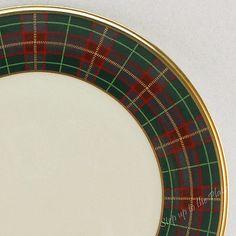 Lenox China Holiday Tartan 11 3 4 1st Qlty Charger Buffet Service Plate Xmas