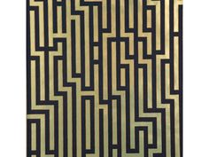 Luxury #metallics endure the test of time. Fretwork in black and gold from @leejofa      #LeeJofa #Wallcoverings #MetallicWallpaper #Wallpaper #interiordesign