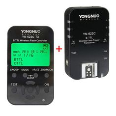 YONGNUO YN622C-KIT Wireless E-TTL Flash Trigger Kit with LED Screen for Canon
