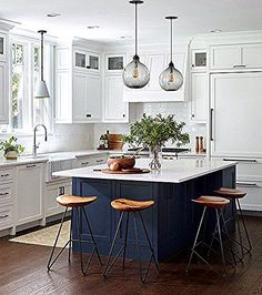 Behold, 10 Transitional Kitchen Ideas That Will Stop You in Your Tracks New Kitchen, Kitchen Ideas, Timber Benchtop, Transitional Kitchen, Table, Furniture, Home Decor, Decoration Home, Room Decor