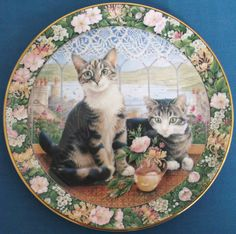 ROYAL DOULTON CHINA CATS IN THE WINDOW 4 SEASONS PLATES LESLEY ANNE IVORY MINT | eBay