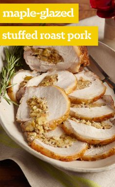 Maple-Glazed Stuffed Roast Pork — This maple-glazed stuffed roast pork loin is a dinner party success that's just too flavorful to make only for company.