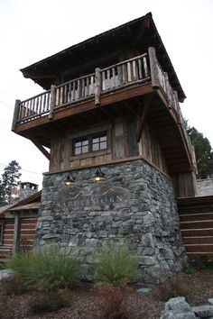 bigfork-photos-152 Tower House, Castle House, Building A Small House, Lookout Tower, Modern Mountain Home, House Siding, Unusual Homes, Home Landscaping, Cabins And Cottages