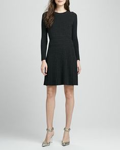 Chloh Ribbed Knit Dress by Theory at Neiman Marcus.