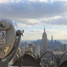 NYC - view of Empire State Building from Top of The Rock - Rockefeller Center