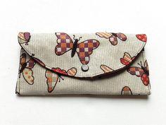 portefeuille, porte chéquier, porte-monnaie, compagnon printanier , imprimé papillons : Porte-monnaie, portefeuilles par doudous-mad-in-toudou