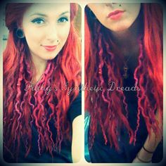 Accent kit of CUSTOM long smooth synthetic dreads / by FilthyStuff, zł150.00