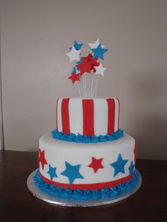 4th Of July Cake, Fourth Of July, Independence Day, Birthday Cake, Party, Desserts, Summer, Food, Tailgate Desserts