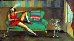 """Dia de los Muertos  22""""x39""""  acrylic on canvas"""