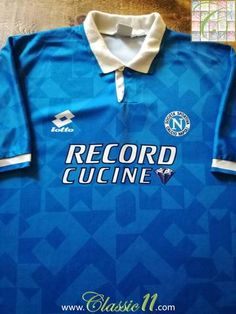 Official Lotto Napoli home football shirt from the 1994/95 season.