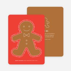 You Can Send Me, I'm the Gingerbread Man Holiday Cards from Paper Culture