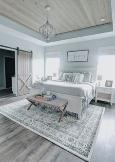 New Trend and So Beautiful Home Design Ideas! Bedroom, Kitchen, Living Room and . New Trend and So Beautiful Home Design Ideas! Bedroom, Kitchen, Living Room and More… Suites, Home Bedroom, Master Bedrooms, Master Bed Room Ideas, Farmhouse Master Bedroom, Master Bedroom Decorating Ideas, Master Bath, Master Suite, Coastal Bedrooms