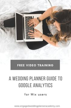 Here's a simple wedding planner guide to Google Analytics. Learn how to set up Google Analytics and what key functions you should be paying attention to. Google Analytics, website platforms for wedding planners, wedding planner business, Wedding Planner Guide to Google Analytics, wedding planner website, wedding planner website design, wedding planner website ideas, wedding planner website template, wedding website tips, Wix wedding planner website