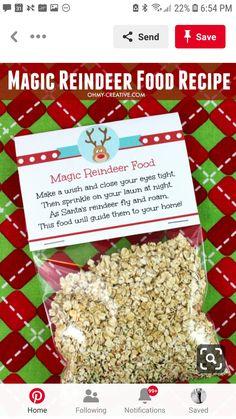 Magic Reindeer Food, Santa And Reindeer, Make A Wish, How To Make, Sprinkles, 1st December, Christmas, Recipes, Yule
