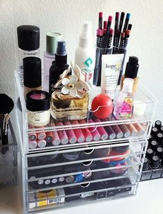 15 Beauty Organization Ideas...I need something like this!
