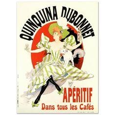 Quinquina Dubonnet Hand Pulled Lithograph Poster Jules Cheret New w COA | eBay