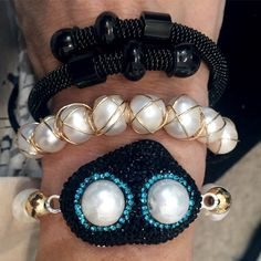 Set By Vila Veloni Classic Dark Black Zirconia Bracelets