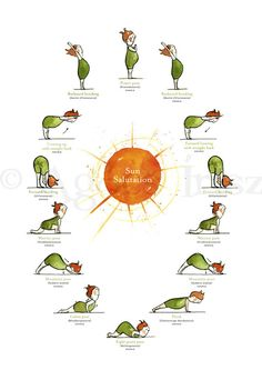 Day Yoga Poster Pack - Sun Salutation