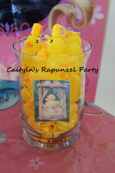 Rapunzel's Snuggly Duckling bubble party favor.