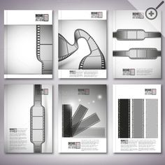 Brochure with film strips by VectorShop on Creative Market