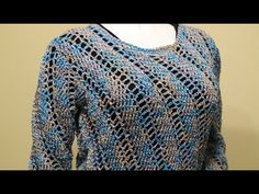 Blusa o Suéter Crochet parte 2 de 3