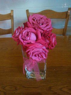 Rosas en un jarrón
