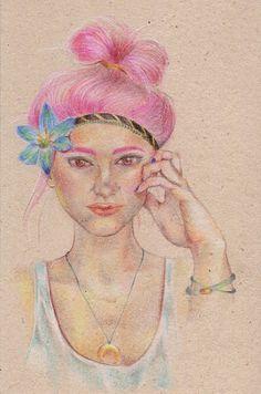 Seika Yamada Portfólio: Pink hair