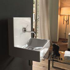 Cento Ceramic Wall Mounted Vessel Bathroom Sink