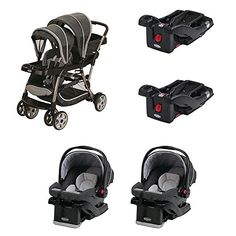Graco Dual Stroller 2 Car Seats and 2 Car Seat Bases Travel System >>> Read more at the image link. (This is an affiliate link) Strollers For Dolls, Baby Strollers, Travel System, Rear Seat, Baby Car Seats, All In One, Infant, Children, Baby