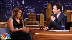 First Lady Michelle Obama on The Tonight Show with Jimmy Fallon  An adorable photo of First Lady Michelle Obama.