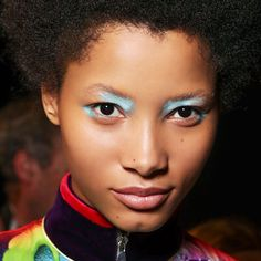 Been considering blue eyeshadow? MAC makeup artist Terry Barber shows us the most modern way to wear it.