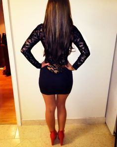 Sweet baby Jesus, this short black lace dress is HOT! Totally wear it on my next Vegas trip with Matt!