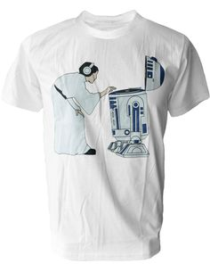 SODAtees funny DJ Leia @ R2-D2 turntable mixer Mens T-SHIRT star wars