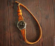 """Купить Часы кварцевые на раздвоенном ремне """"Linea"""" - часы ручной работы, часы необычные"""