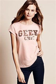 68e447589a Geek Chic Sequin T -Shirt Eterno Raio De Sol