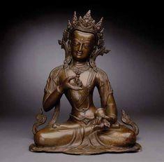 A Large Bronze Figure of Vajrasattva, Century Tibetan Art, Buddhist Art, Central Asia, Indian Art, Sculptures, Auction, Bronze, Himalayan, 16th Century