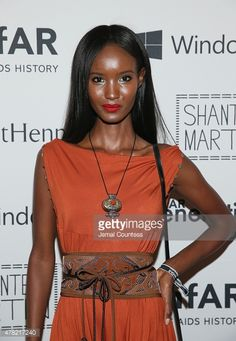 Model Fatima Siad wearing Y by Yasmine belt and jumpsuit.   Model Fatima Siad attends 4th Annual Solstice Presented By amfAR's generationCURE at Hudson Hotel on June 23, 2015 in New York City.