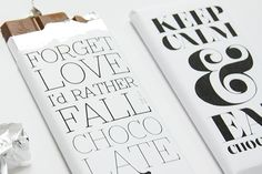 FREE: Chocolate Bar Wrapper Printables