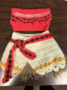 Crochet Halloween Costume, Old Halloween Costumes, Crochet Baby Costumes, Crochet Baby Clothes, Newborn Crochet, Moana Theme Birthday, Moana Themed Party, Festa Moana Baby, Moana Outfits
