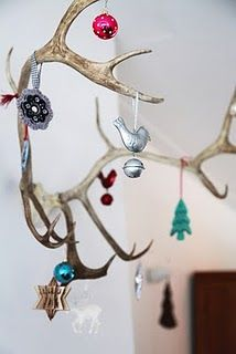 I'll have to remember to do this to my husbands antlers that are on the wall next christmas