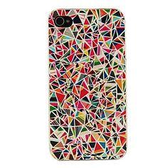 PC Multicolor Geometry Pattern Hard Case voor iPhone 4/4S – EUR € 1.50