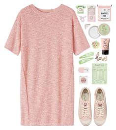 """""""strawberry and green"""" by amazing-abby ❤ liked on Polyvore featuring Toast, Juicy Couture, Candie's, Pixi, Rodin Olio Lusso, Sarah's Bag, NARS Cosmetics, GPO, Ankit and Topshop"""