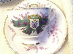 Vintage c.1960s Royal Stafford Tartan series tea by BuyfromGroovy