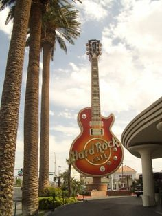 Hard Rock Cafe, Las Vegas-- walked from the Luxor to HRC.  Lots farther than it looked on the map!