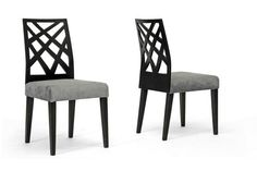 Marla Black Microfiber Modern Dining Chair | Chicago Furniture $88.00