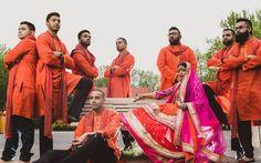 from Rukhsana Esrar Runi Bridal Collection 2014 #mehendi #lehenga #multicoloroed #pink #magenta #red #yellow #holud #sangeet #bride #groom #punjabi #bdbride #groomsmen #bengalibride #wedding #bengali #bangladeshi #desi #traditional #RukhsanaEsrarRuni