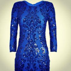 Tfnc blue sequin dress