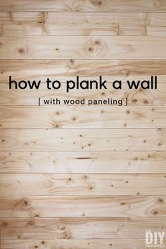 How to plank a wall with wood paneling. Installing wood paneling is a fun DIY that quickly changes a look to a wall. Learn how to plank a wall with this step by step tutorial. wood wall How to Plank a Wall with Wood Paneling Wood Panneling, Wood Plank Walls, Wood Planks, Wood Wall Paneling, Wood Floor On Wall, Planked Walls, Paneling Ideas, Dyi, Table Teck