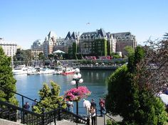 Victoria, British Columbia, Canada ~ View across the harbor of The Empress Hotel